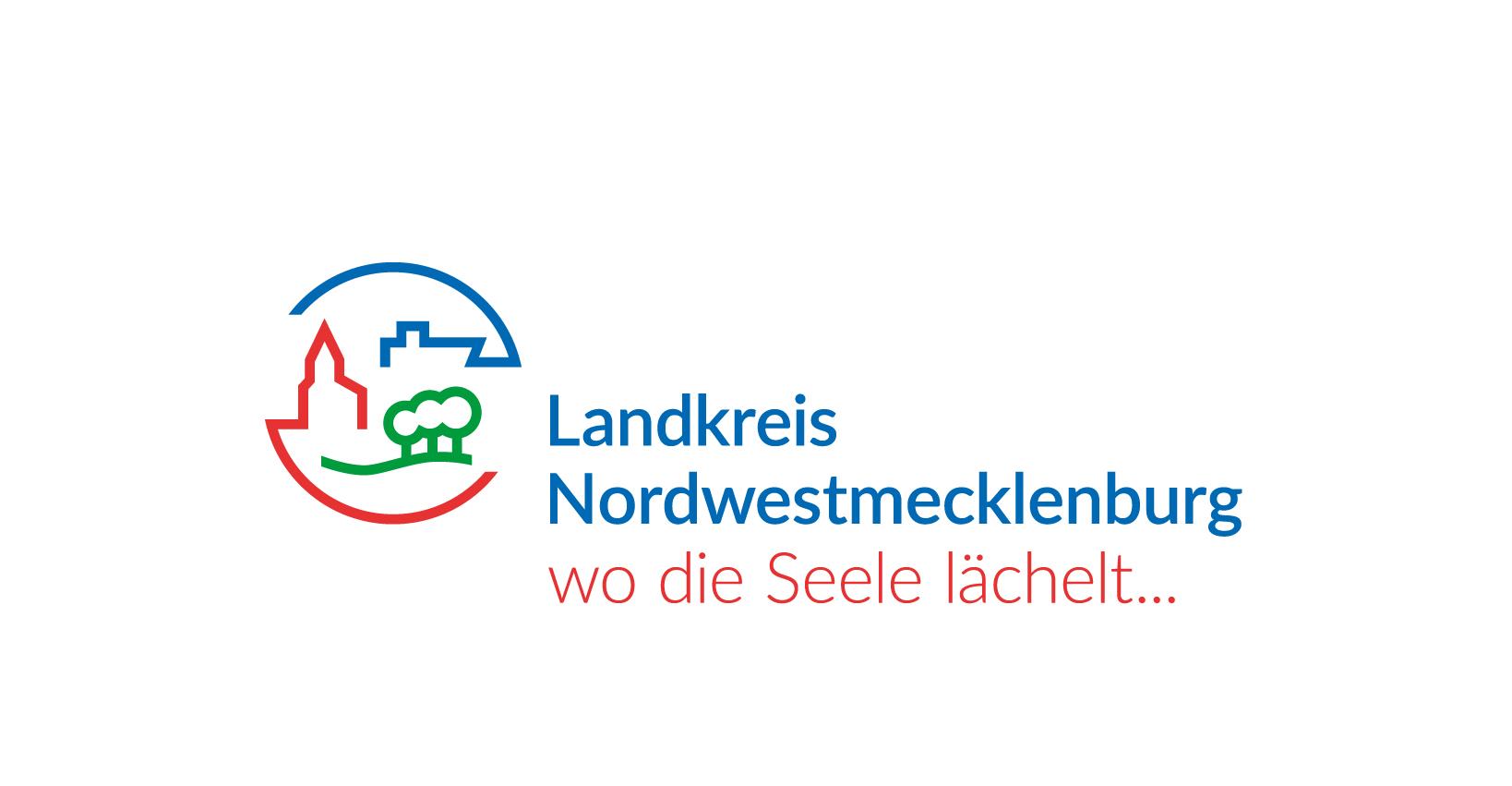 Das Logo des Landkreises Nordwestmecklenburg ©LK NWM
