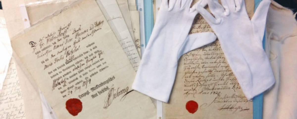 Das älteste Schriftstück aus dem Kreisarchiv NWM