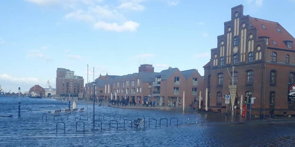 Hochwasser in Wismar